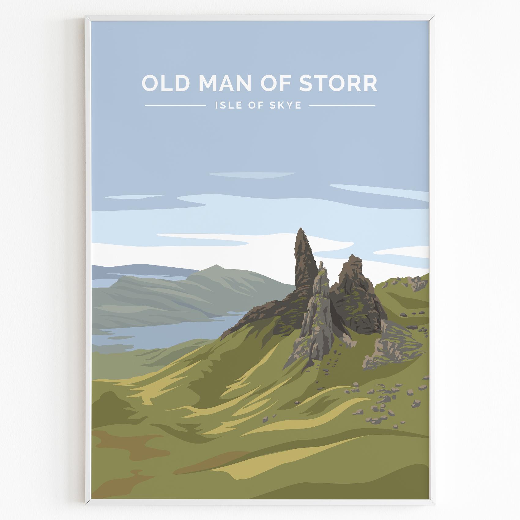 Old Man of Storr Print Poster Isle of Skye Daytime