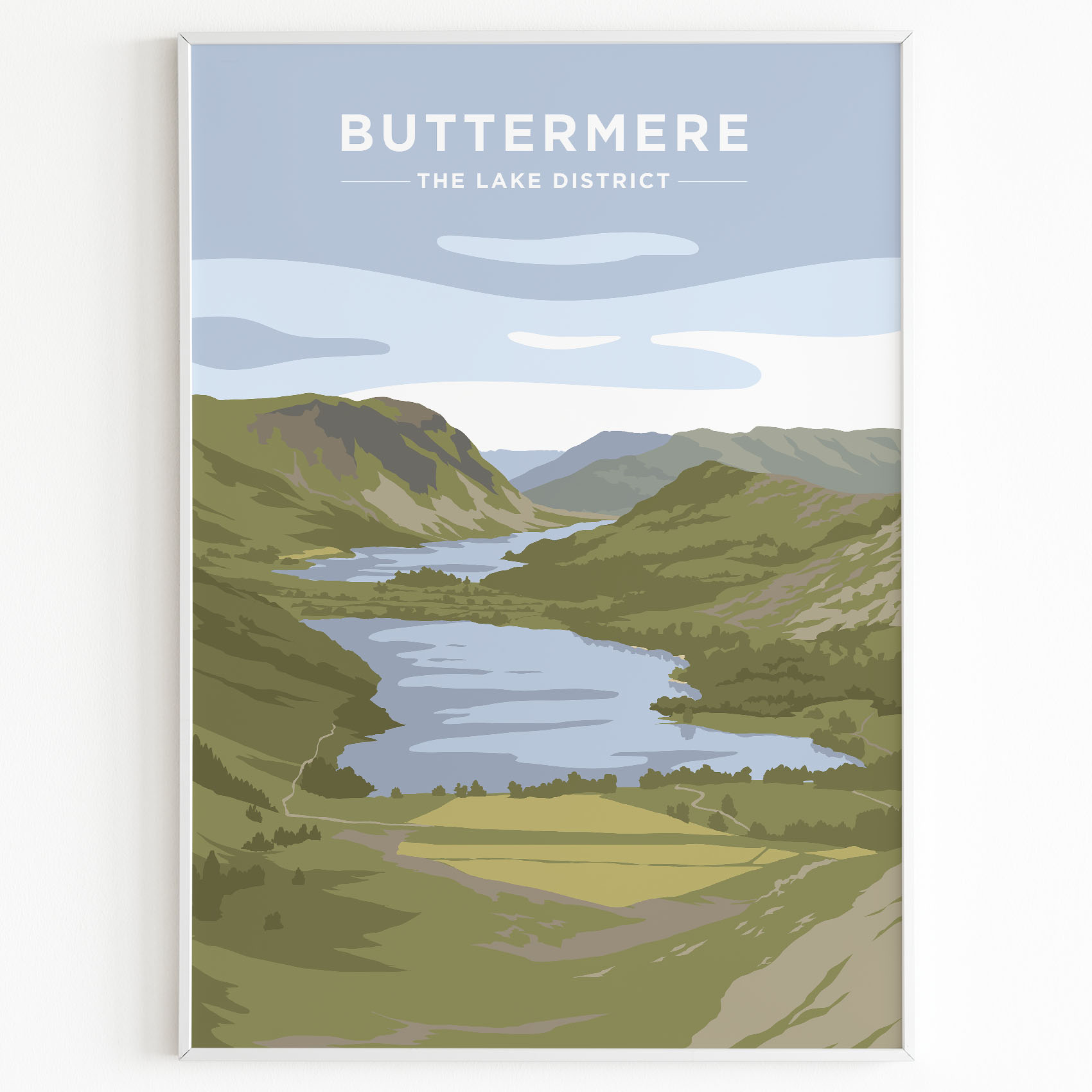 Buttermere Lake District Print Sunset