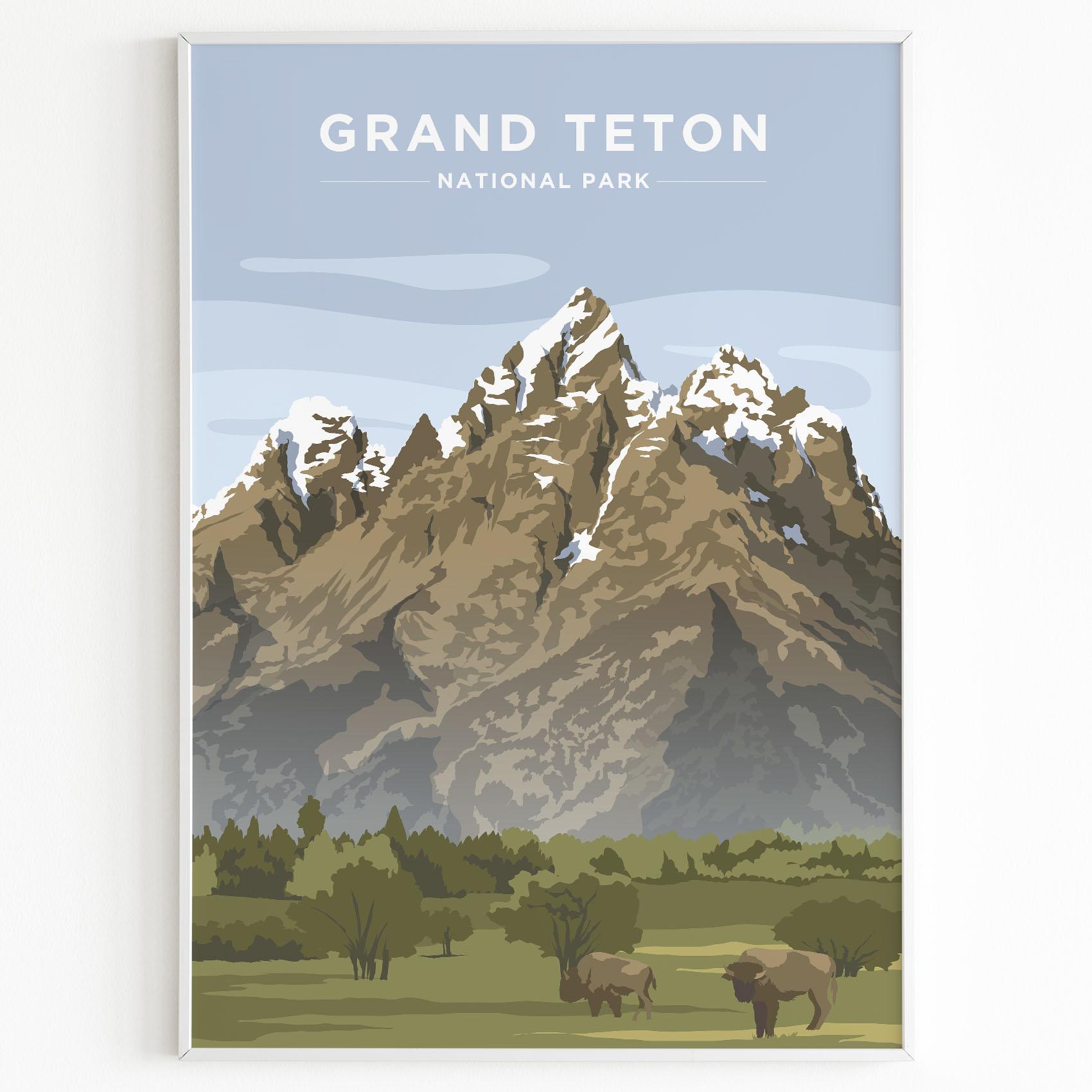 Grand Teton Print Sunset