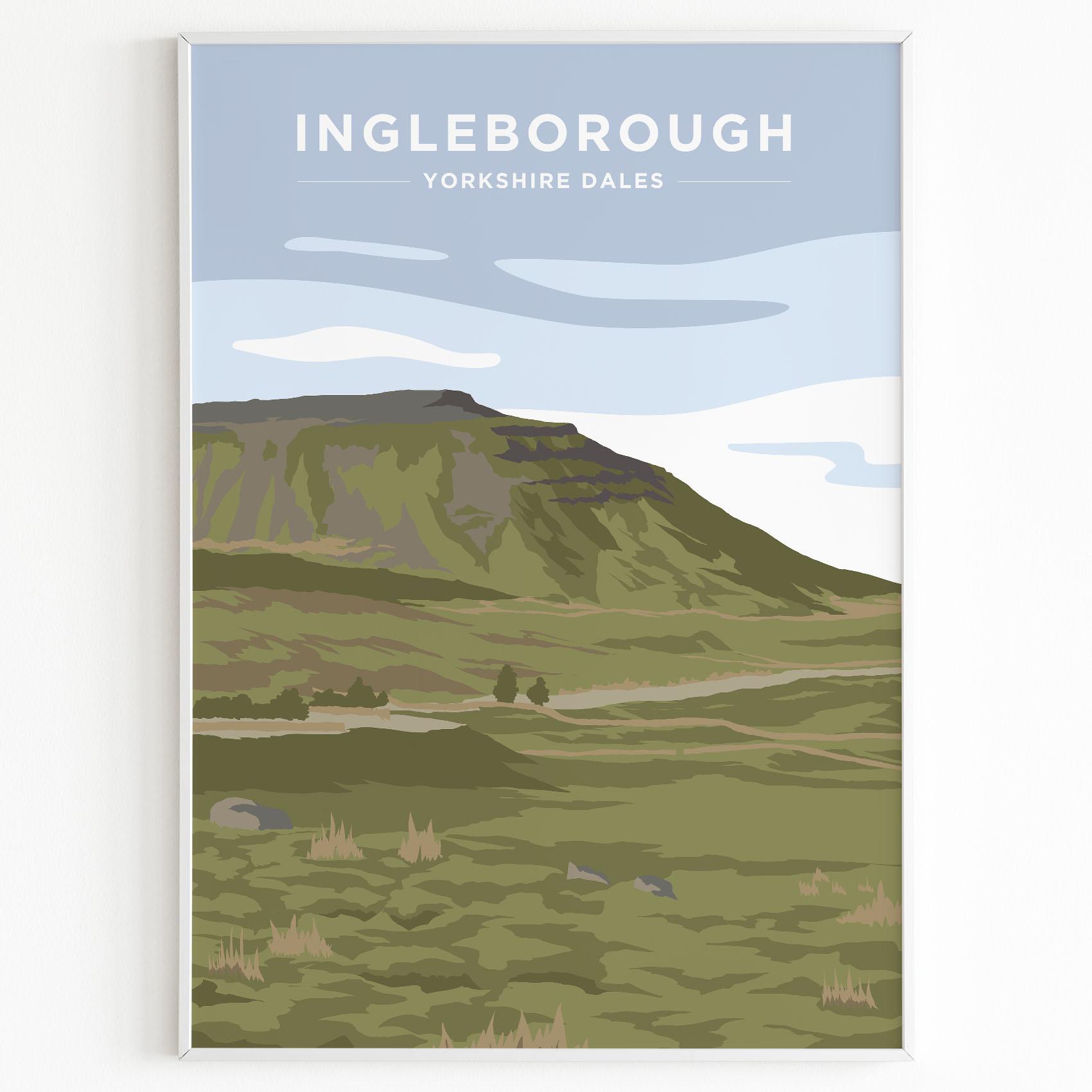 Ingleborough Yorkshire Dales Print Sunset