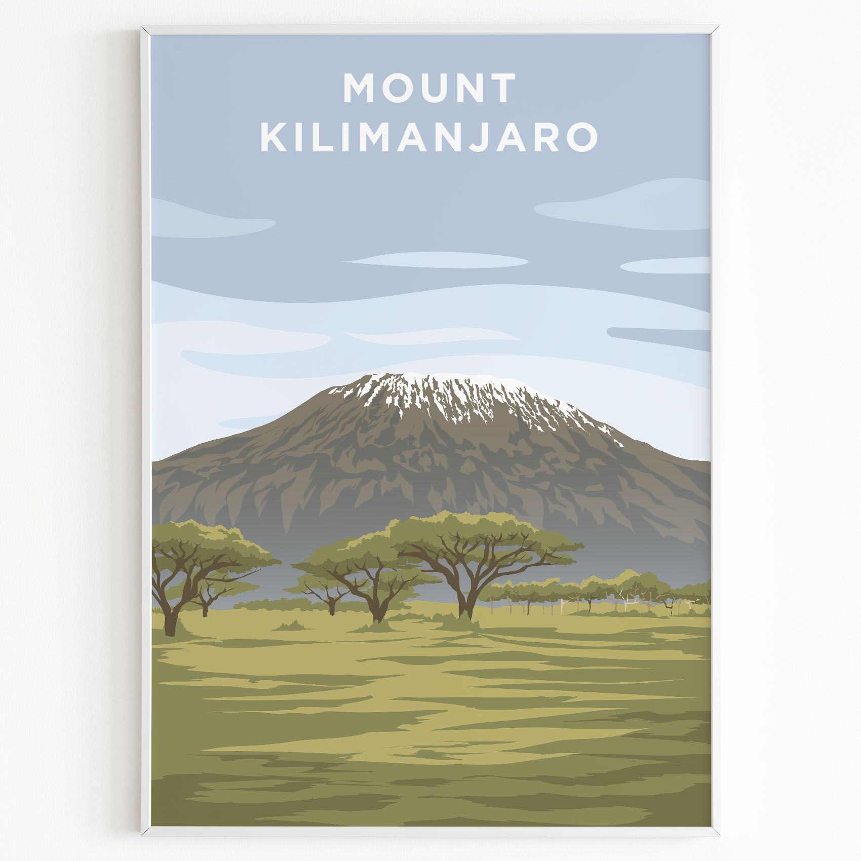 Mount Kilimanjaro poster sunset
