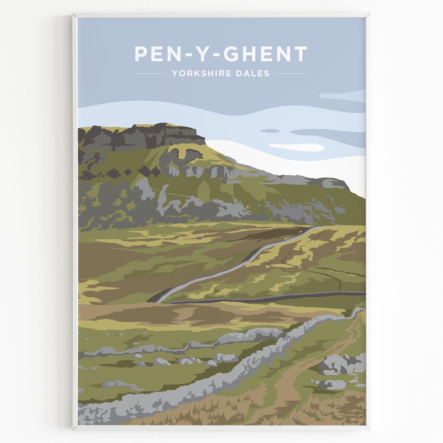 Pen y ghent Yorkshire Dales Print Sunset