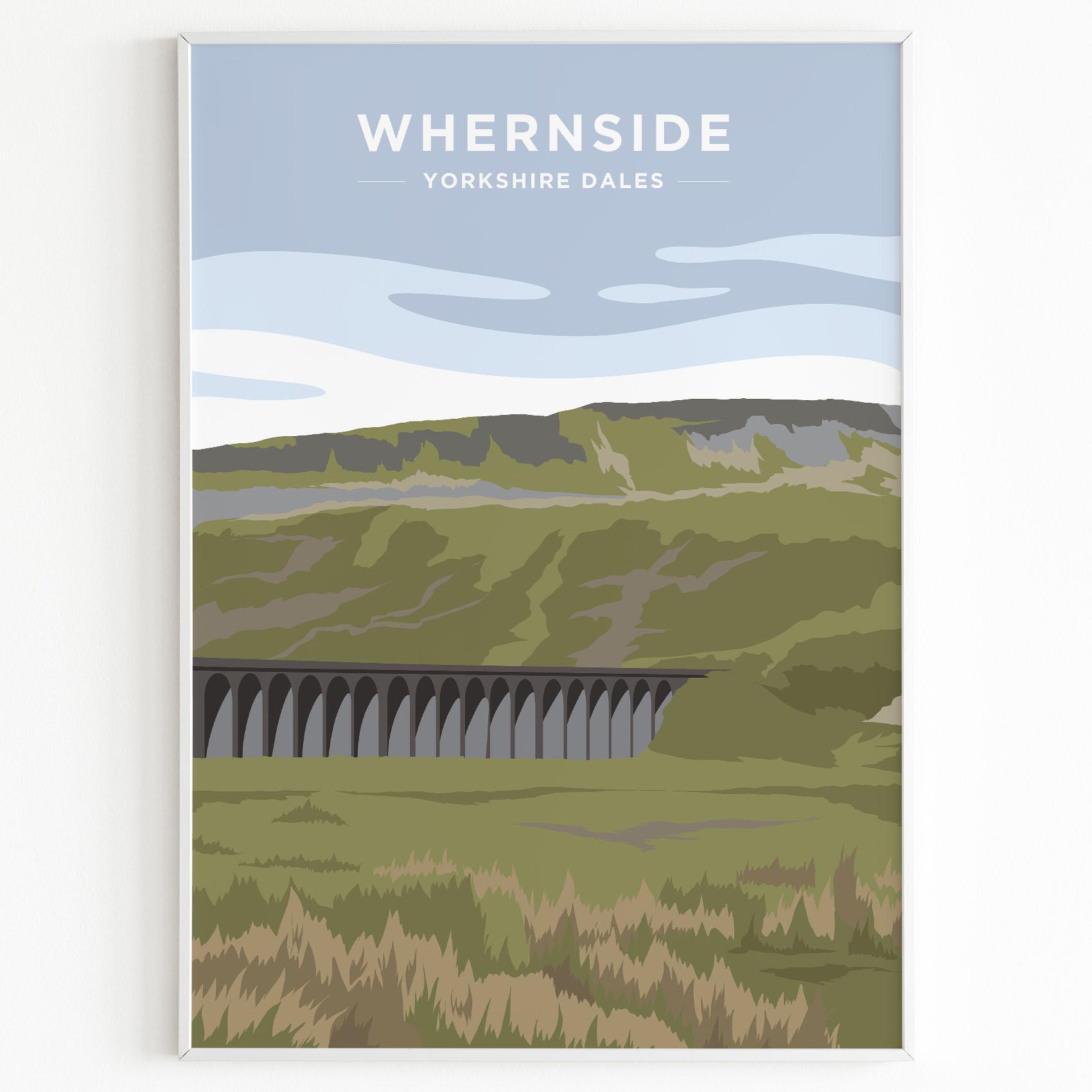 Whernside Yorkshire Dales Print Sunset