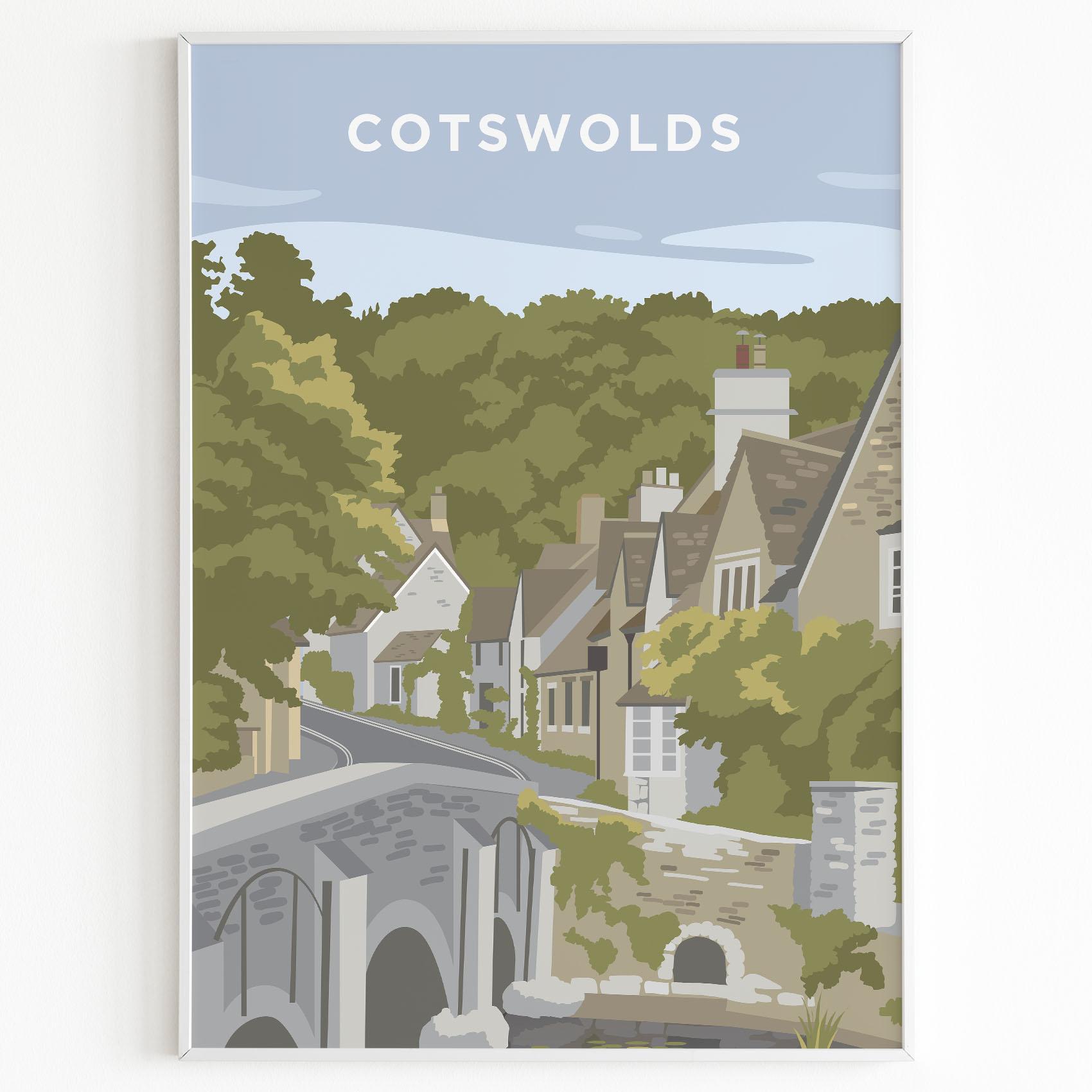 cotswolds print sunset