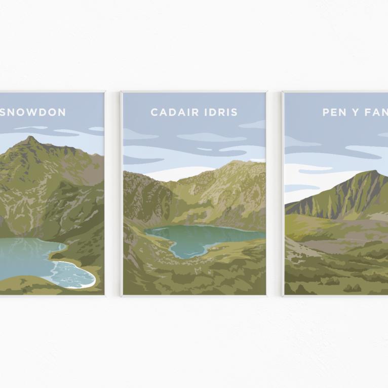 welsh three peaks challenge print
